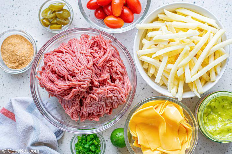 Taco Bell Nacho Fries BellGrande ingredients