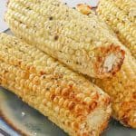 4 ears of air fried corn on the cob