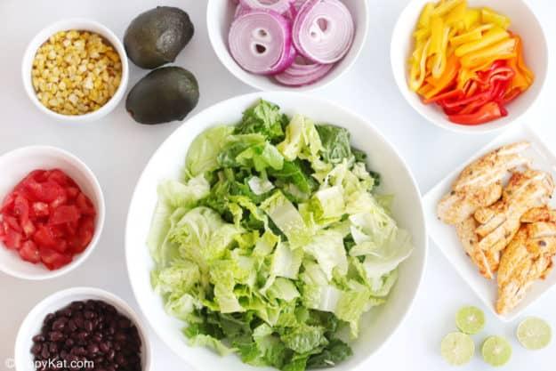 chicken fajita salad ingredients