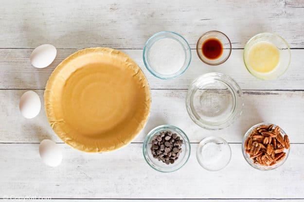 Cracker Barrel chocolate pecan pie ingredients