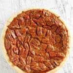 a whole chocolate pecan pie