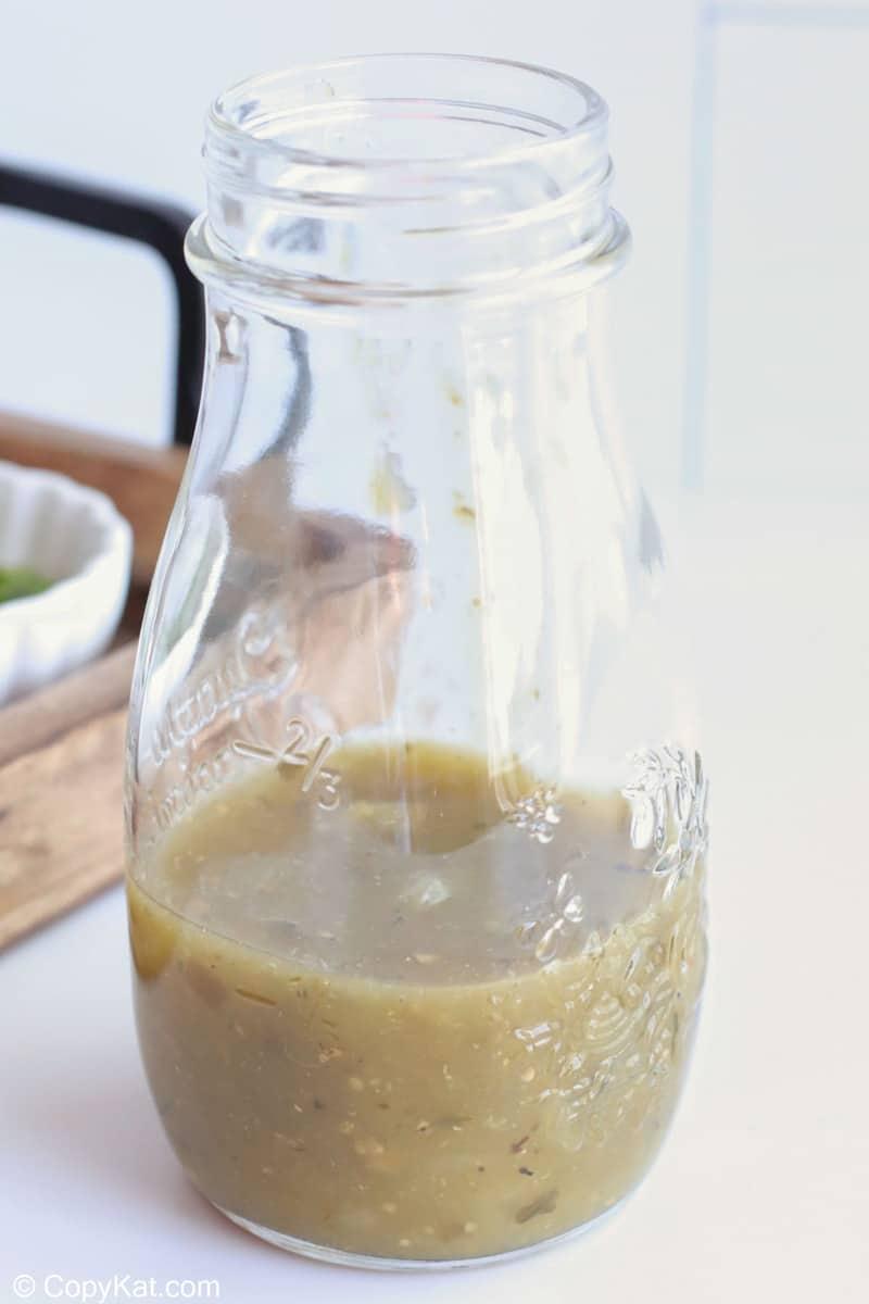 salsa verde in a jar