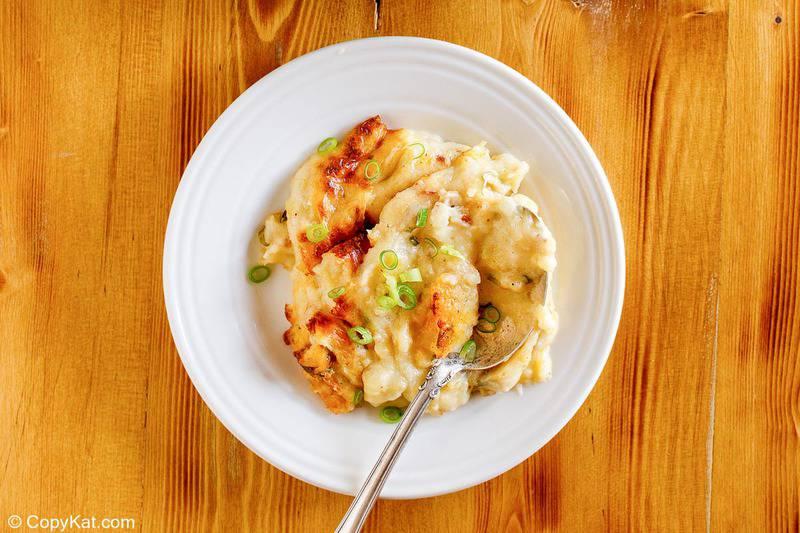 baked potato casserole on a plate