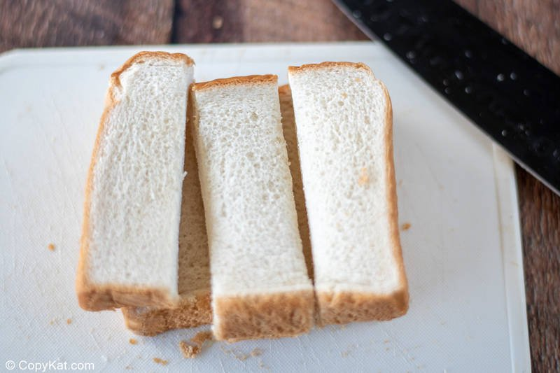 bread slices cut into strips