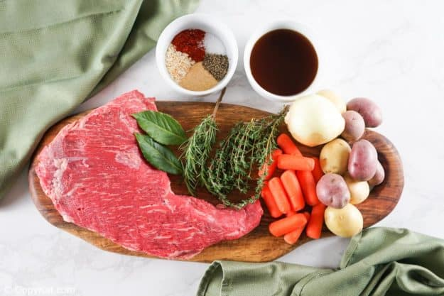 Instant Pot tri tip roast ingredients