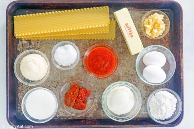 Olive Garden 5 Cheese Lasagna ingredients