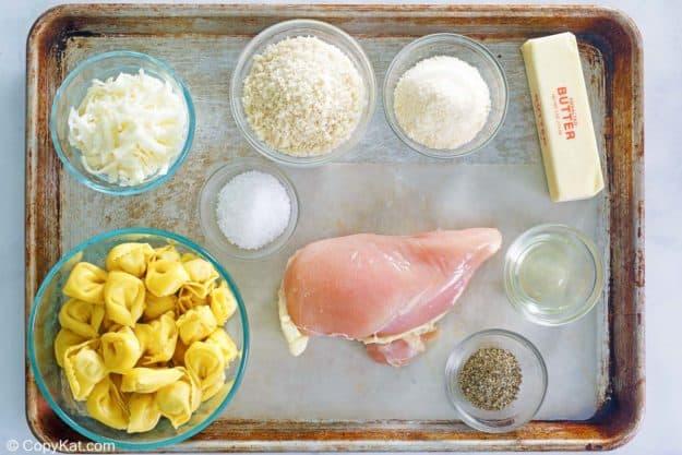 Olive Garden Asiago Tortelloni Alfredo with grilled chicken ingredients