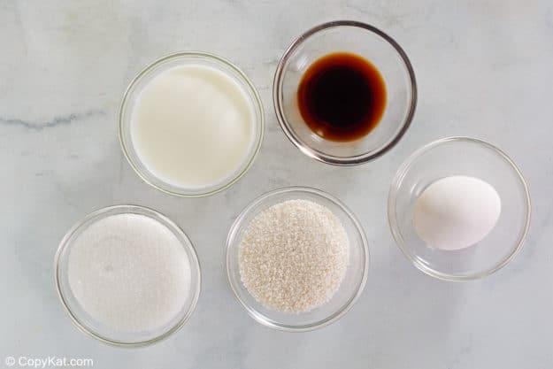 ingredientes del pudín de tapioca