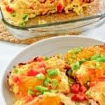 enchiladas de pavo en un plato y en una fuente para hornear