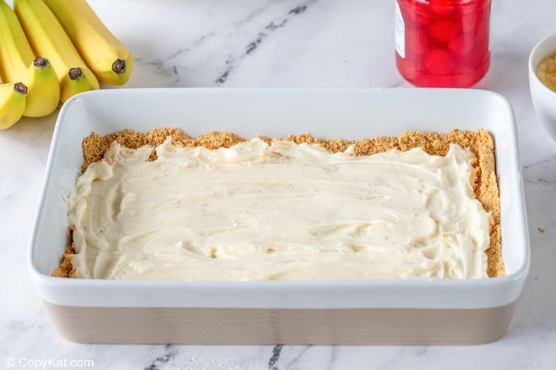 banana split cake cream cheese layer
