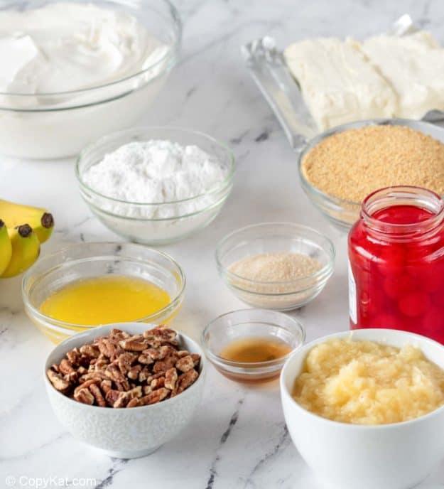 banana split cake ingredients