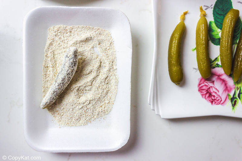 pickle coated with flour