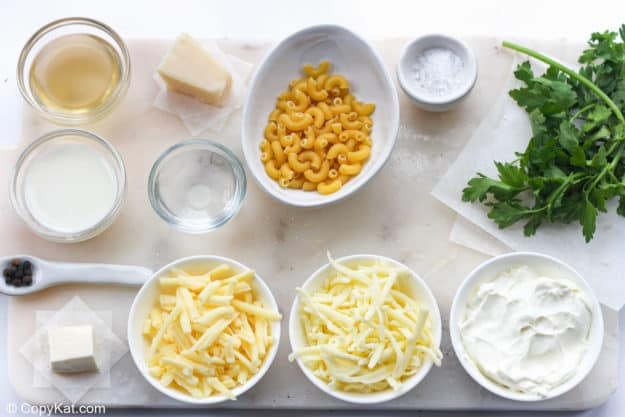 Instant Pot white cheddar mac and cheese ingredients