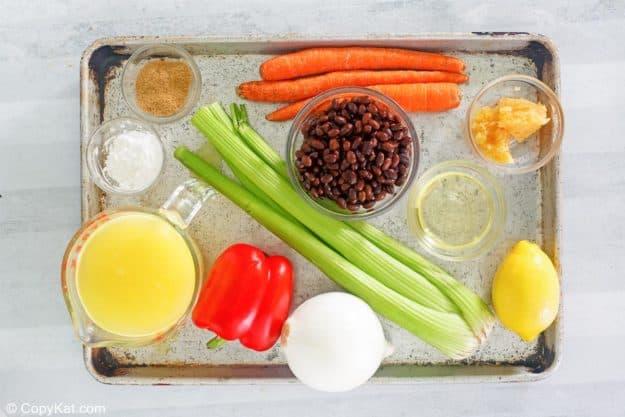 Panera black bean soup ingredients