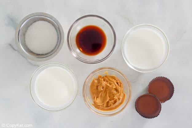 peanut butter ice cream ingredients