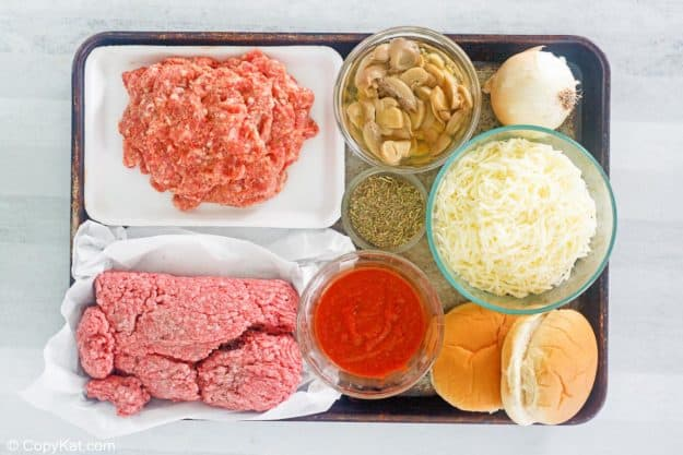 pizza burgers ingredients