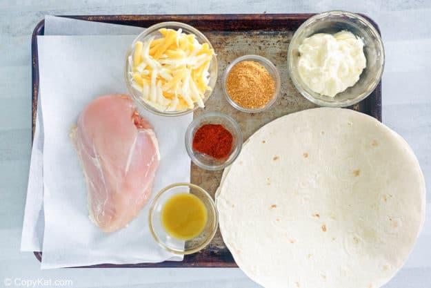 Taco Bell chicken quesadilla ingredients