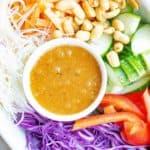 Thai noodle salad ingredients and dressing
