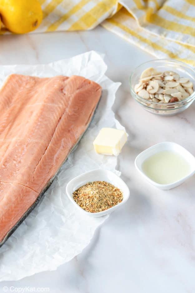 air fryer salmon almondine ingredients