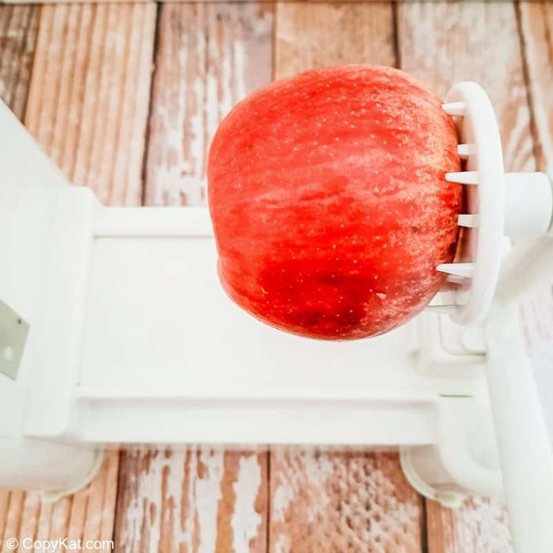 apple on a spiralizer