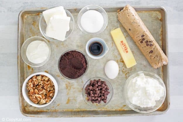 cookie dough cheesecake ingredients