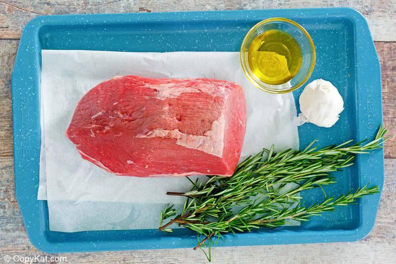 eye of round roast, olive oil, garlic, fresh rosemary