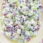 grape salad on a platter