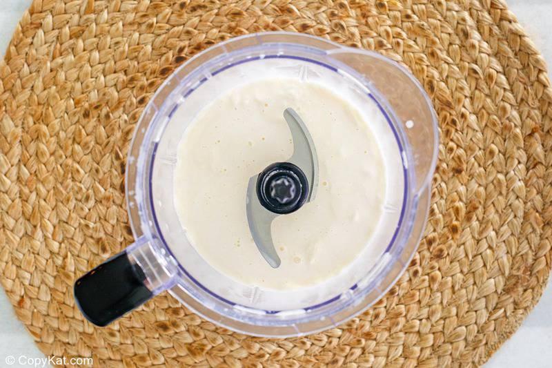 mcflurry ice cream mixture in a blender