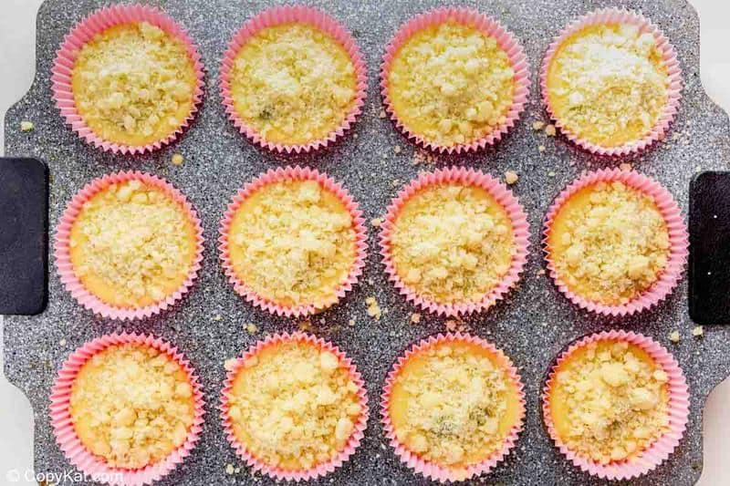 homemade Starbucks blueberry muffins before baking
