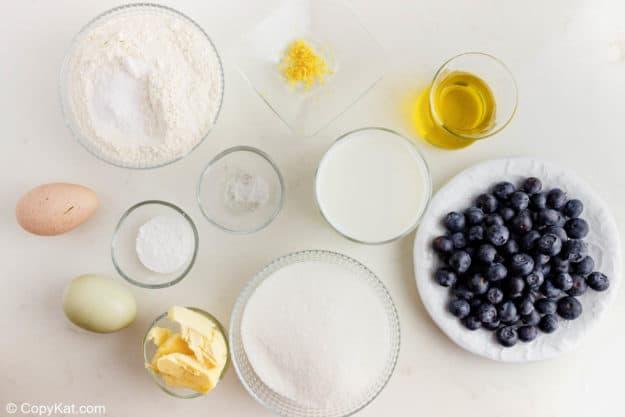 Starbucks blueberry muffins ingredients