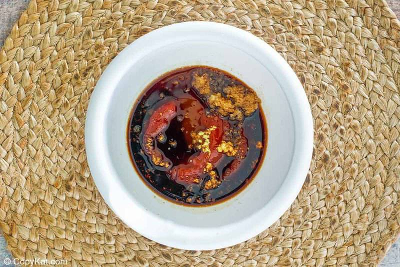 tonkatsu sauce ingredients in a bowl