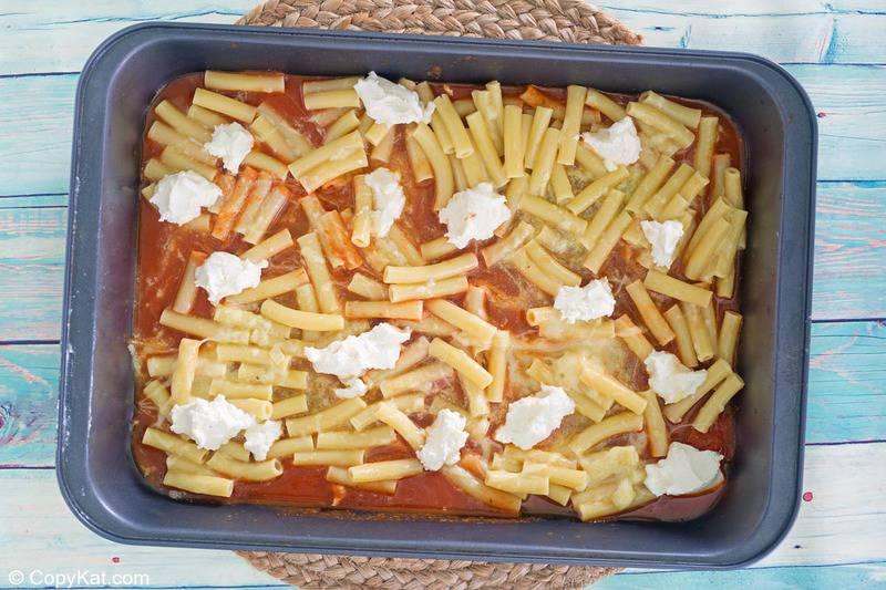 baked ziti ricotta cheese layer