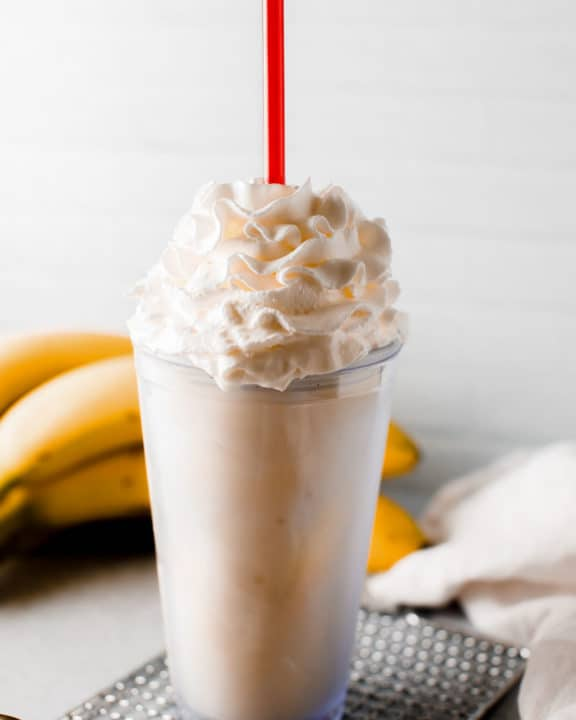 homemade Fatburger banana milkshake