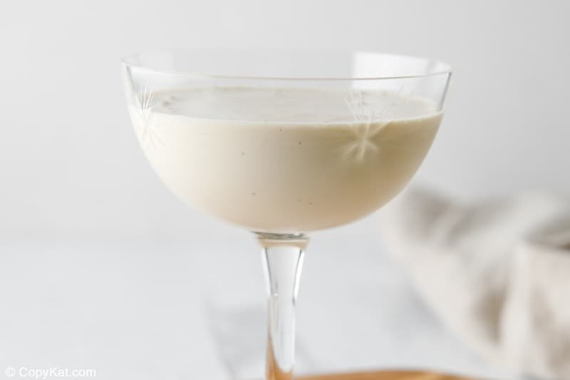 blended brandy alexander cocktail in a glass