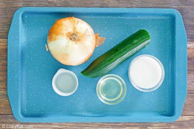 cucumber onion salad ingredients