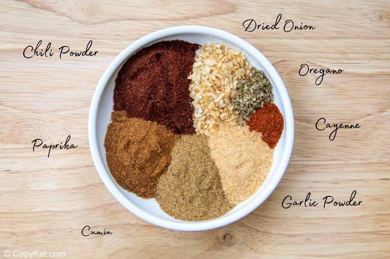 homemade taco seasoning recipe ingredients in a bowl