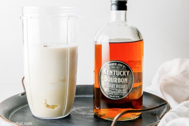 adding bourbon to milk punch