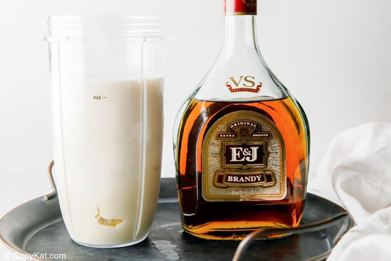 adding brandy to milk punch