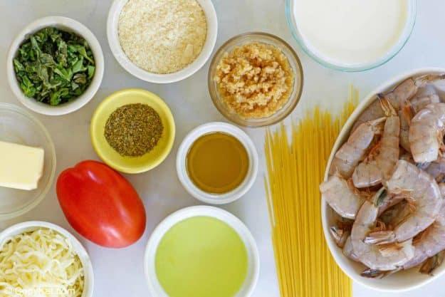 Olive Garden Shrimp Caprese ingredients