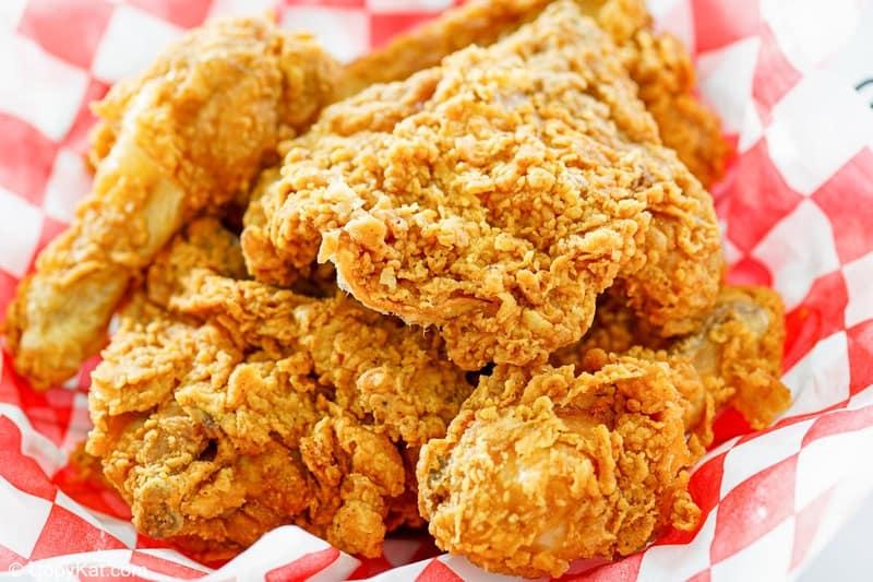 pieces of homemade KFC fried chicken