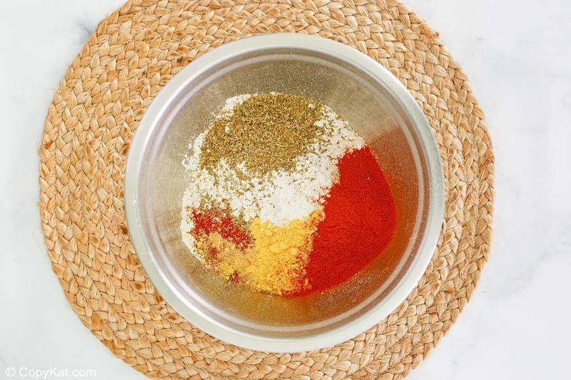 flour and spices for KFC fried chicken in a bowl
