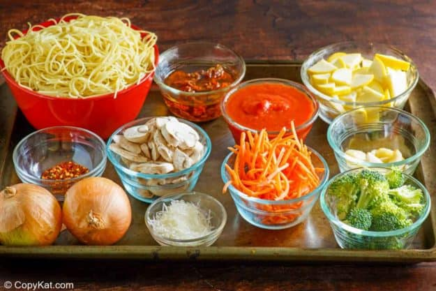 Olive Garden capellini primavera ingredients
