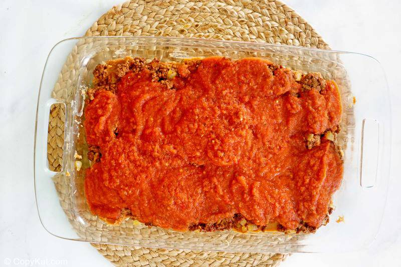 taco casserole sauce layer