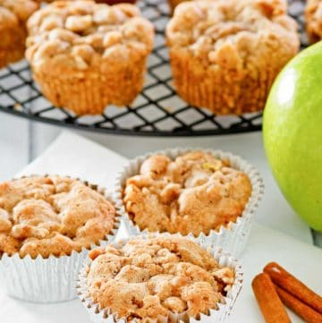 apple muffins and cinnamon sticks