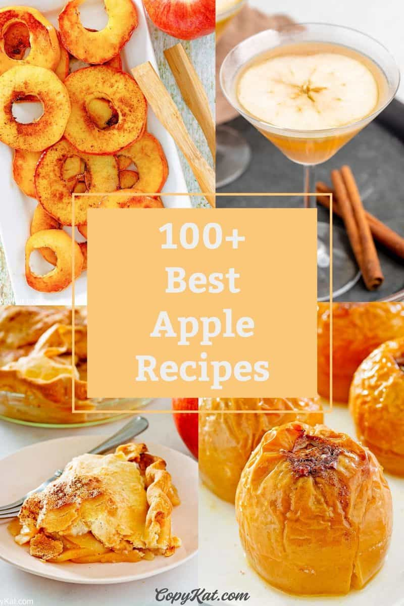 collage of four apple recipes