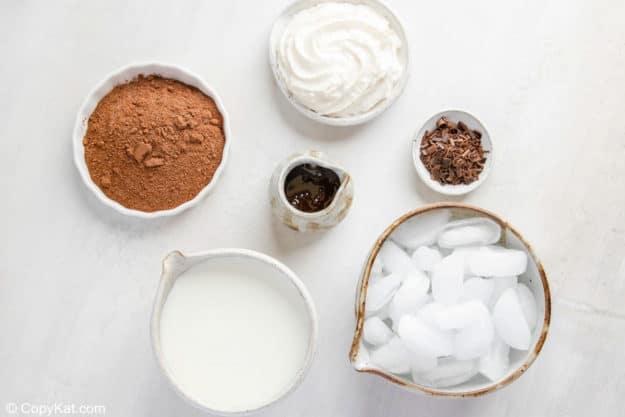 frozen hot chocolate ingredients.