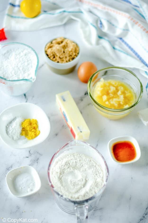 pineapple cookies ingredients