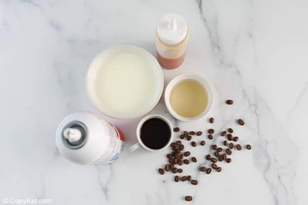 Starbucks caramel macchiato ingredients.