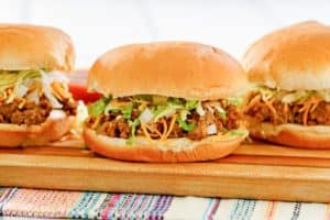homemade Taco Bell Bell Beefer sandwiches