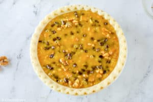 Toll House pie before baking